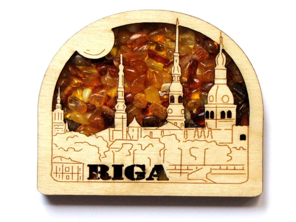 Magnēts ar Rīgas panorāmu
