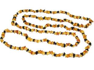 Multicolor amber neckalce, 200cm